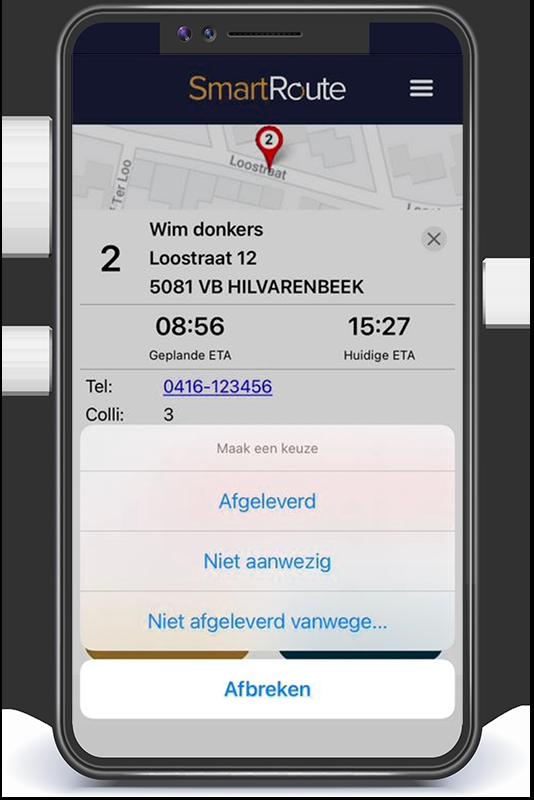 SmartRoute app keuze afgeleverd
